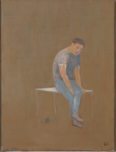 Leander Kaiser, Lavorare stanca, Öl auf Leinwand, 80 × 60 cm, 2014