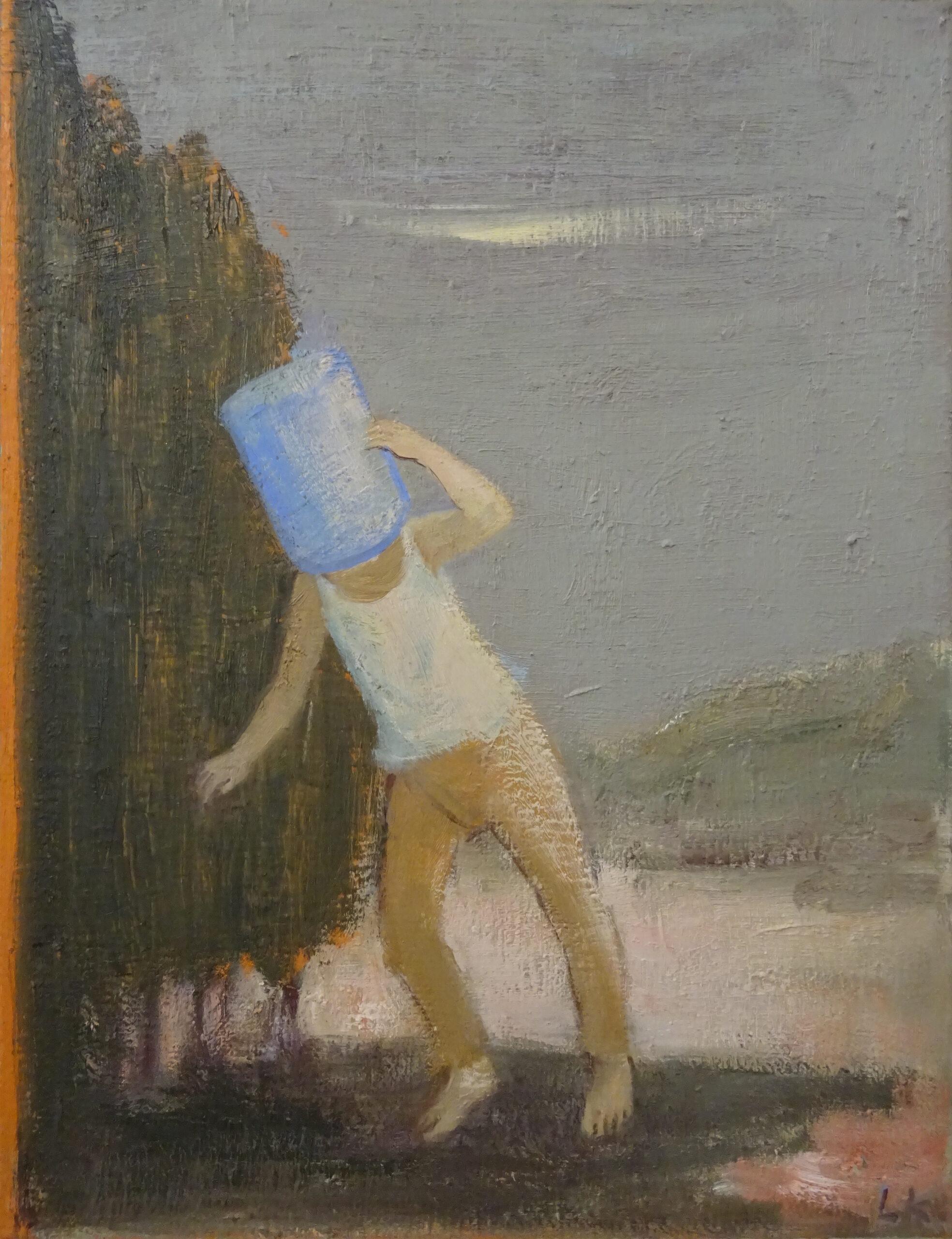 Leander Kaiser, Durchs Hinterland, Öl auf Leinwand, 65 × 50 cm, 2016