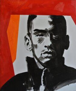 Titanilla Eisenhart, HELD 60 × 50 cm Öl und Acryl auf Leinwand 2017