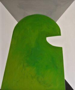 Titanilla Eisenhart, SAGE 60 × 50 cm Öl auf Acryl auf Leinwand 2017