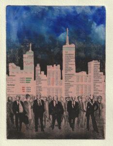 "Wolfgang Horwath, ""Kapital feudal"", Radierung 30 × 20cm Auflage 7/7+III"